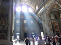 God's light in St Peter's Basilica