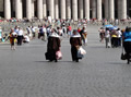 Carmalite nuns in St Peter's Square